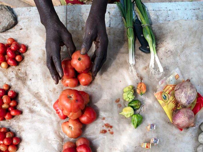 خضروات طازجة في السوق