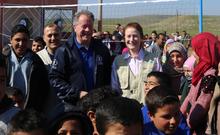 مديرا اليونيسف وبرنامج الأغذية العالمي ينهيان زيارة مشتركة إلى سوريا، للاطلاع على أثر النزاع على الأطفال والعائلات