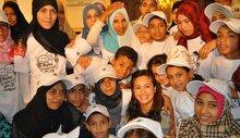 سفيرة البرنامج للنوايا الحسنة الفنانة هند صبري تزور مخيمات اللاجئين الروهينجا في بنجلاديش
