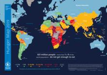 خريطة الجوع في العالم لعام 2019