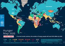 خريطة الجوع في العالم لعام 2020