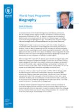 السيرة الذاتية- المدير التنفيذي لبرنامج الأغذية العالمي