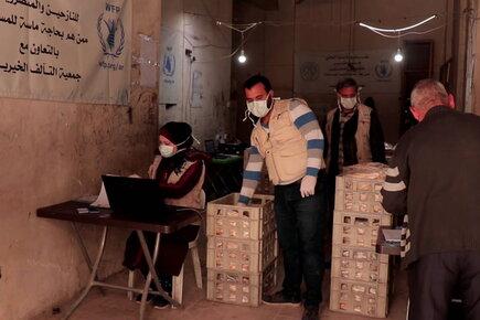 فيديو جديد من حلب بسوريا بشأن الاجراءات التي اتخذها برنامج الأغذية العالمي لمواجهة فيروس كورونا